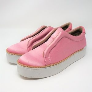 Free People x M4D3 Pink Silk Blend Slip On Sneaker